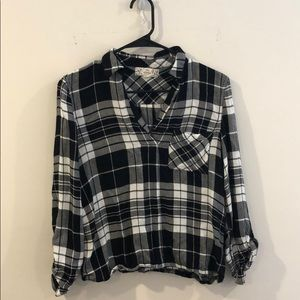 Pull over flannel shirt